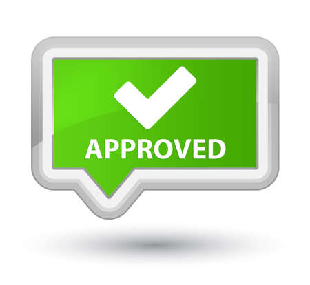 validate: Approved (validate icon) soft green banner button
