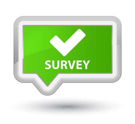 validate: Survey (validate icon) soft green banner button