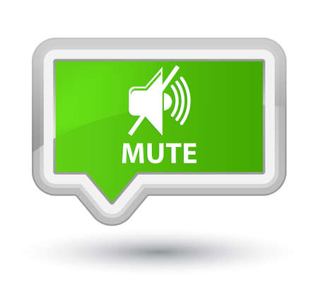 Mute soft green banner button