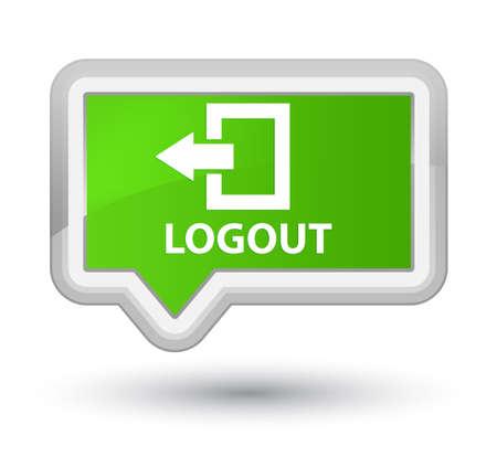 disconnect: Logout soft green banner button
