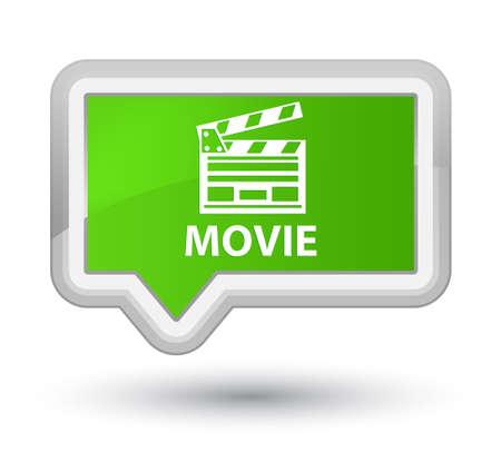 Movie (cinema clip icon) soft green banner button