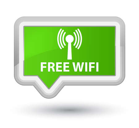 wlan: Free wifi (wlan network) soft green banner button