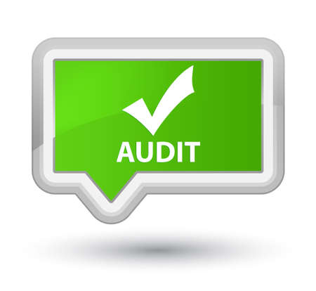 validate: Audit (validate icon) soft green banner button