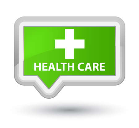 green plus: Health care (plus sign) soft green banner button