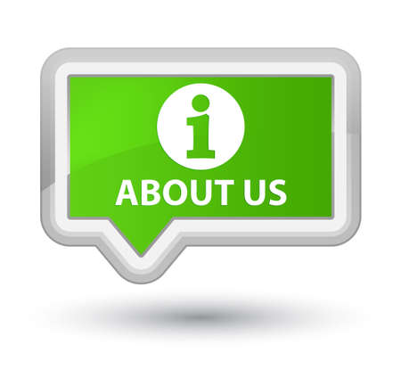 about us: About us soft green banner button