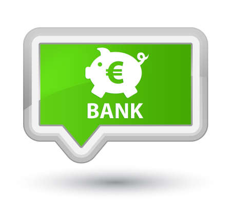 Bank (piggy box euro sign) soft green banner button
