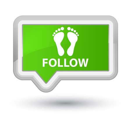 green footprint: Follow (footprint icon) soft green banner button