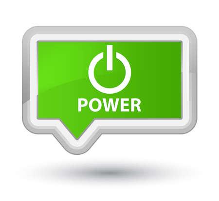 green power: Power soft green banner button