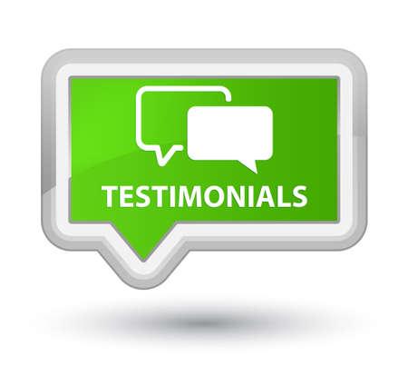 authenticate: Testimonials soft green banner button