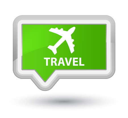 airway: Travel (plane icon) soft green banner button