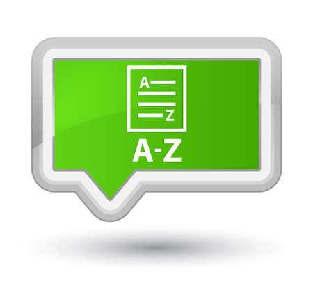 az: A-Z (list page icon) soft green banner button Stock Photo