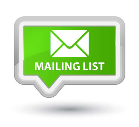 mailing: Mailing list soft green banner button Stock Photo