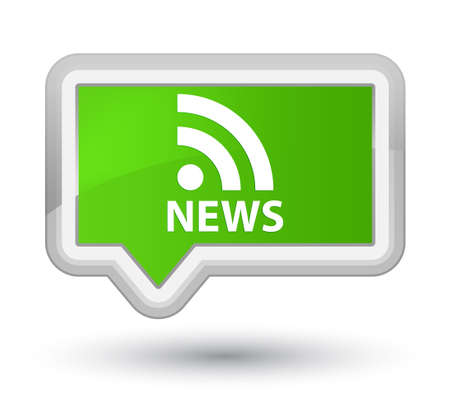 rss icon: News (RSS icon) soft green banner button