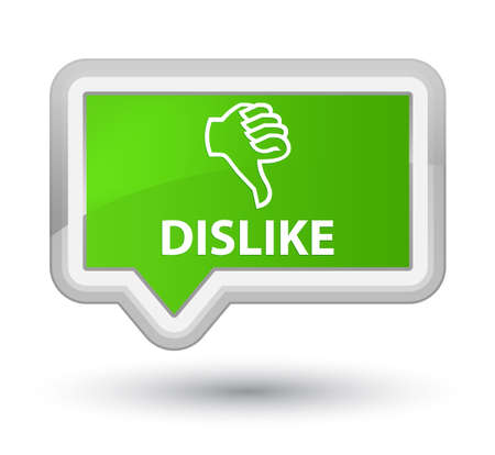 disapprove: Dislike soft green banner button