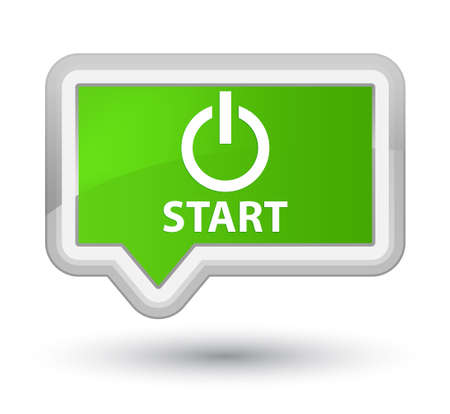 green power: Start (power icon) soft green banner button