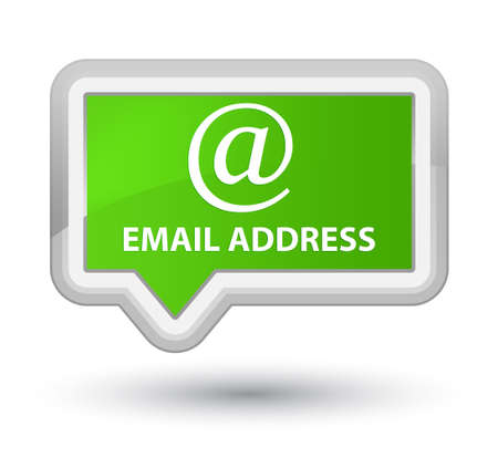 email address: Email address soft green banner button