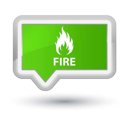 Fire soft green banner button Stock Photo