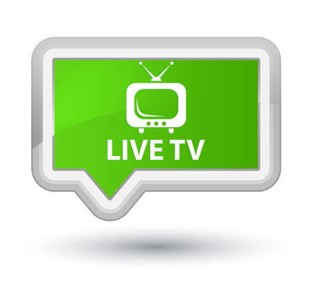 Live tv soft green banner button