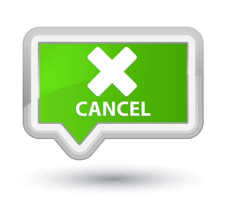 cancel: Cancel soft green banner button Stock Photo