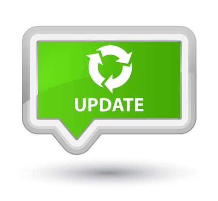 refresh icon: Update (refresh icon) soft green banner button