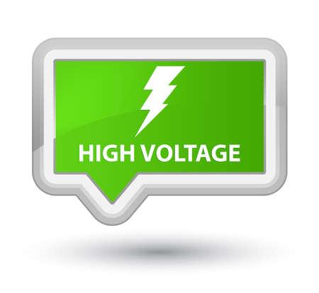 high voltage: High voltage (electricity icon) soft green banner button