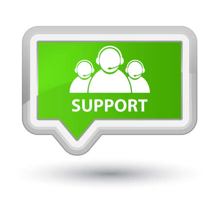 Support (customer care team icon) soft green banner button