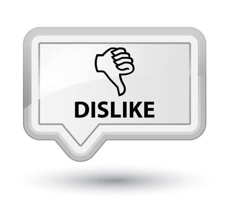 disapprove: Dislike white banner button Stock Photo