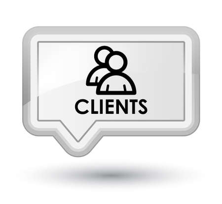 job satisfaction: Clients (group icon) white banner button