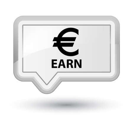 earn: Earn (euro sign) white banner button