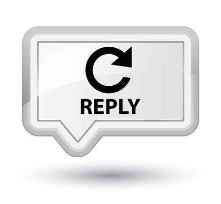 reply: Reply (rotate arrow icon) white banner button