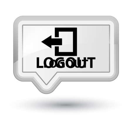 disconnect: Logout white banner button