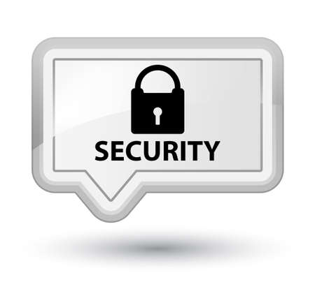 insecure: Security (padlock icon) white banner button