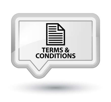 information technology law: Terms and conditions (page icon) white banner button