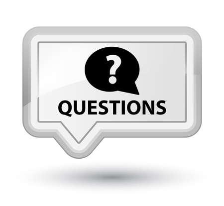 quest: Questions (bubble icon) white banner button