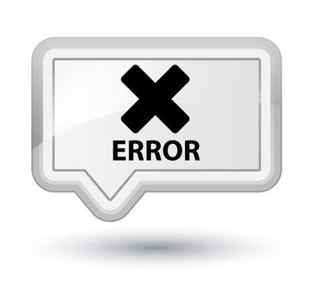 disagree: Error (cancel icon) white banner button
