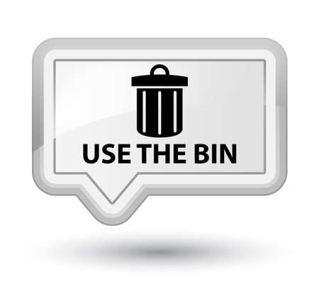 use: Use the bin (trash icon) white banner button Stock Photo