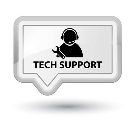 tech support: Tech support white banner button Stock Photo