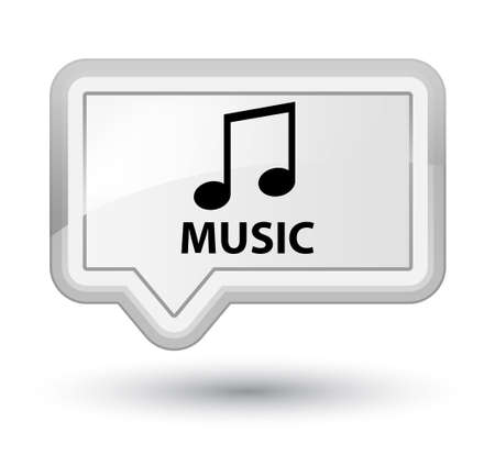 tune: Music (tune icon) white banner button