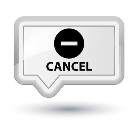 cancel: Cancel white banner button Stock Photo