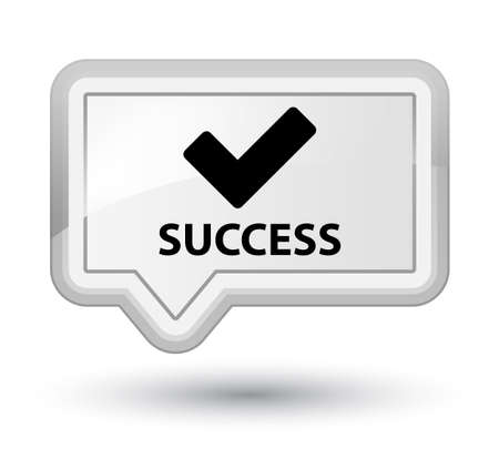 validate: Success (validate icon) white banner button