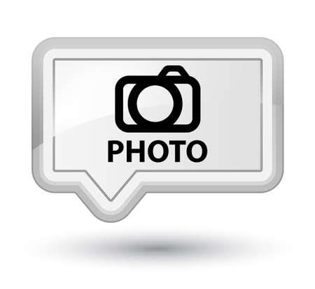 Photo (camera icon) white banner button