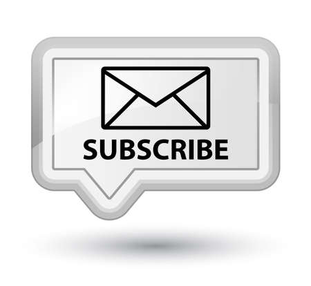 article marketing: Subscribe (email icon) white banner button