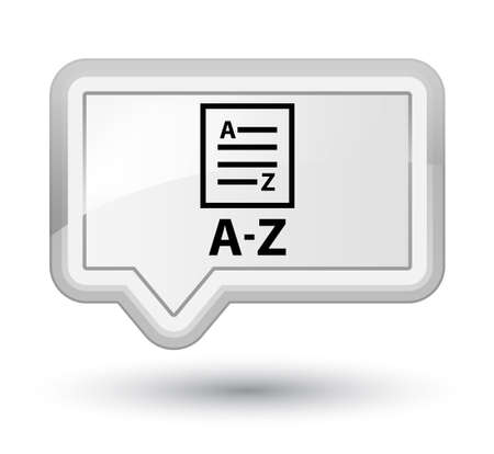 A-Z (list page icon) white banner button