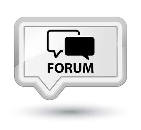 menace: Forum white banner button