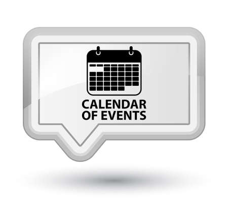 event calendar: Calendar of events white banner button