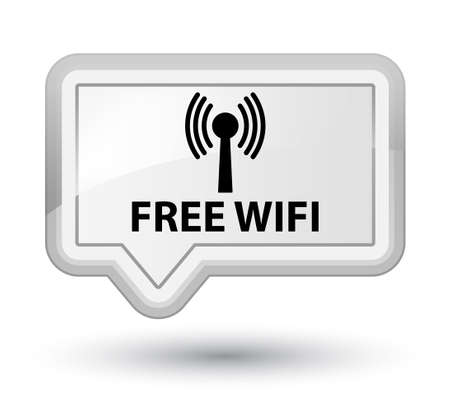 wlan: Free wifi (wlan network) white banner button