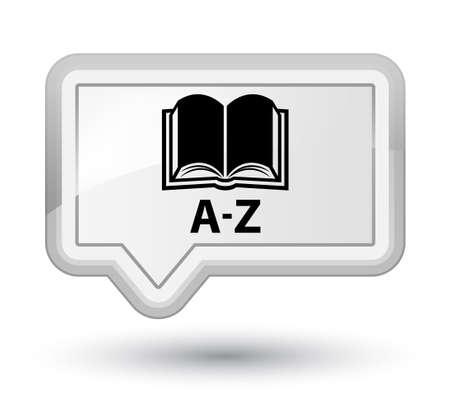 az: A-Z (book icon) white banner button
