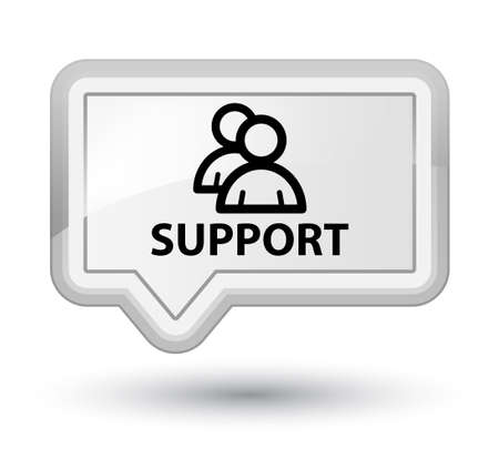 support group: Support (group icon) white banner button Stock Photo