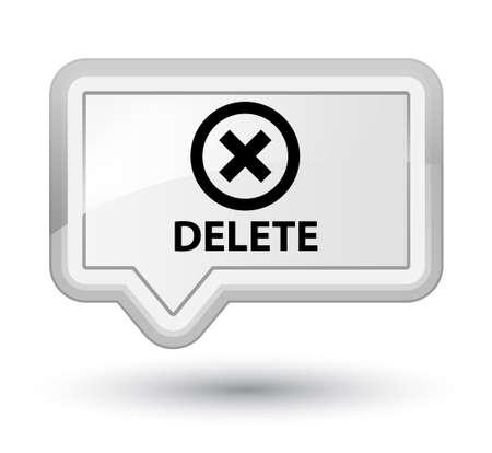 delete: Delete white banner button