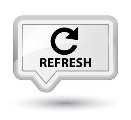 refresh: Refresh (rotate arrow icon) white banner button